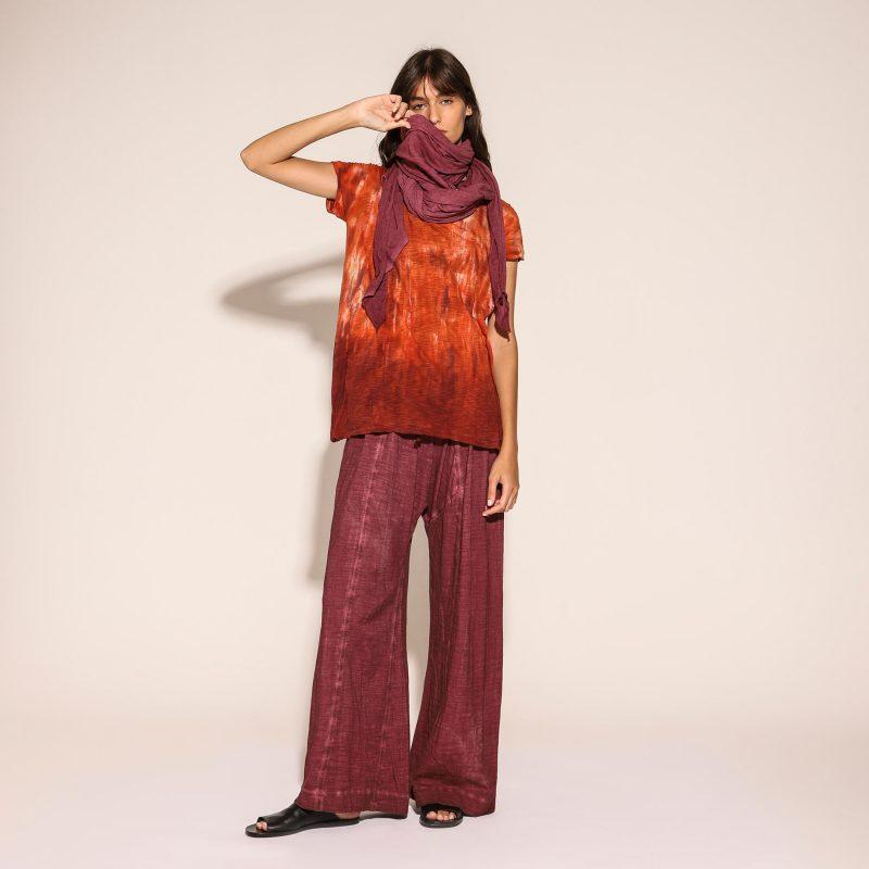 Blusa Monoprix Gilda Midani Blaze foulard port red