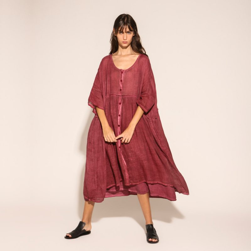 Vestido Over Gilda Midani Port Red