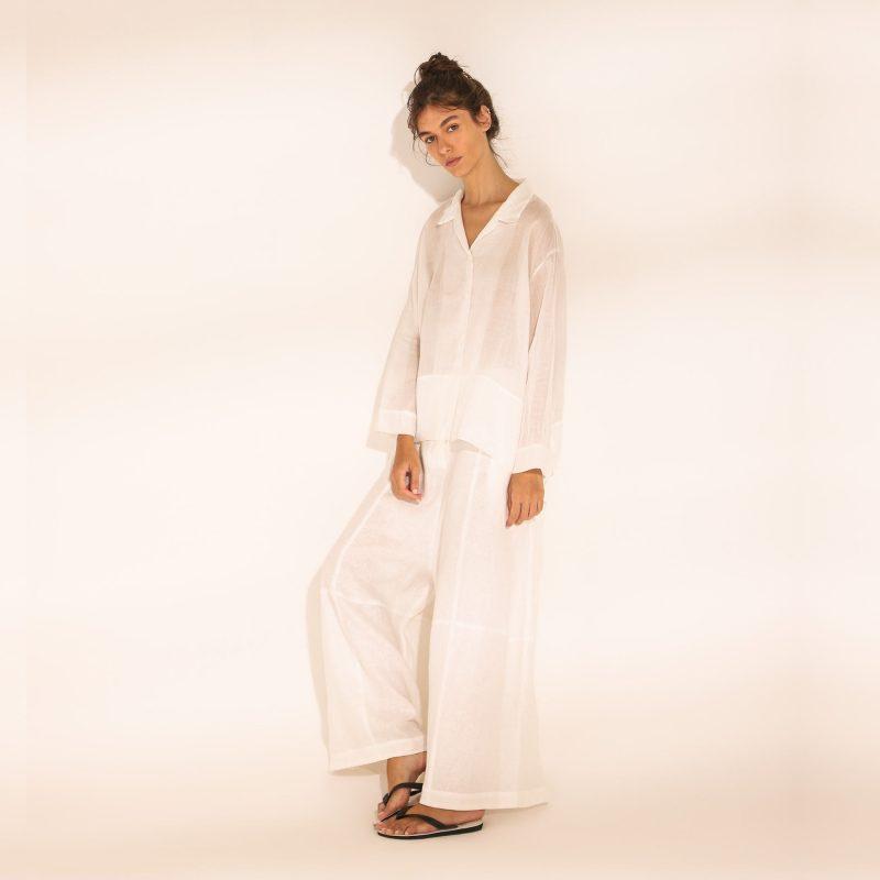 camisa cupula calca ovo gilda midani white